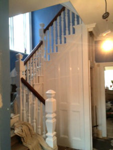Staircase and hallway after redecoration projects