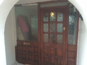 Front door before being redecorated projects