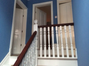 Stairs after being redecorated projects