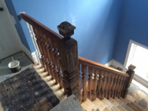Stairs before being redecorated projects