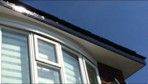 Gutters after being painted projects