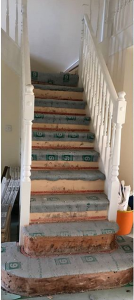 Before redecoration of hall, stairs and landing