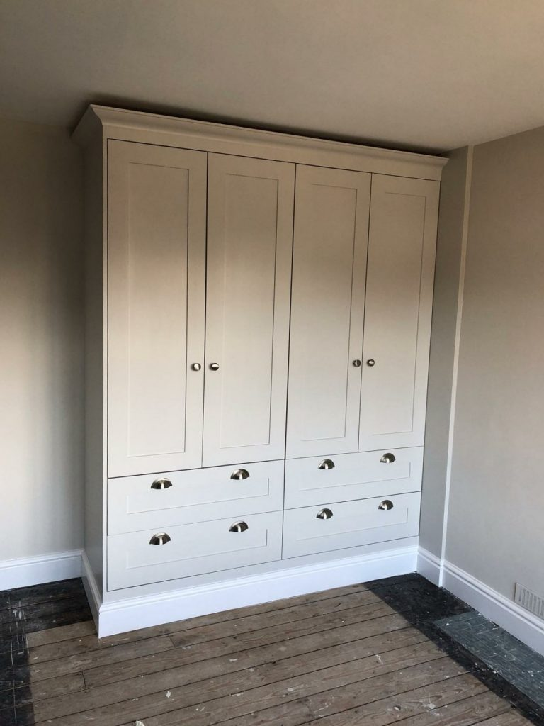 Wardrobe after decorating makeover