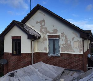 Exterior decorating work at house in Neston