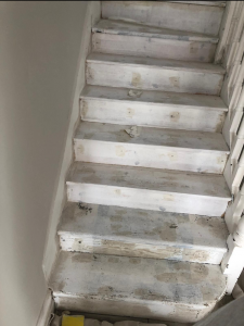 Photo of stairs before being painted